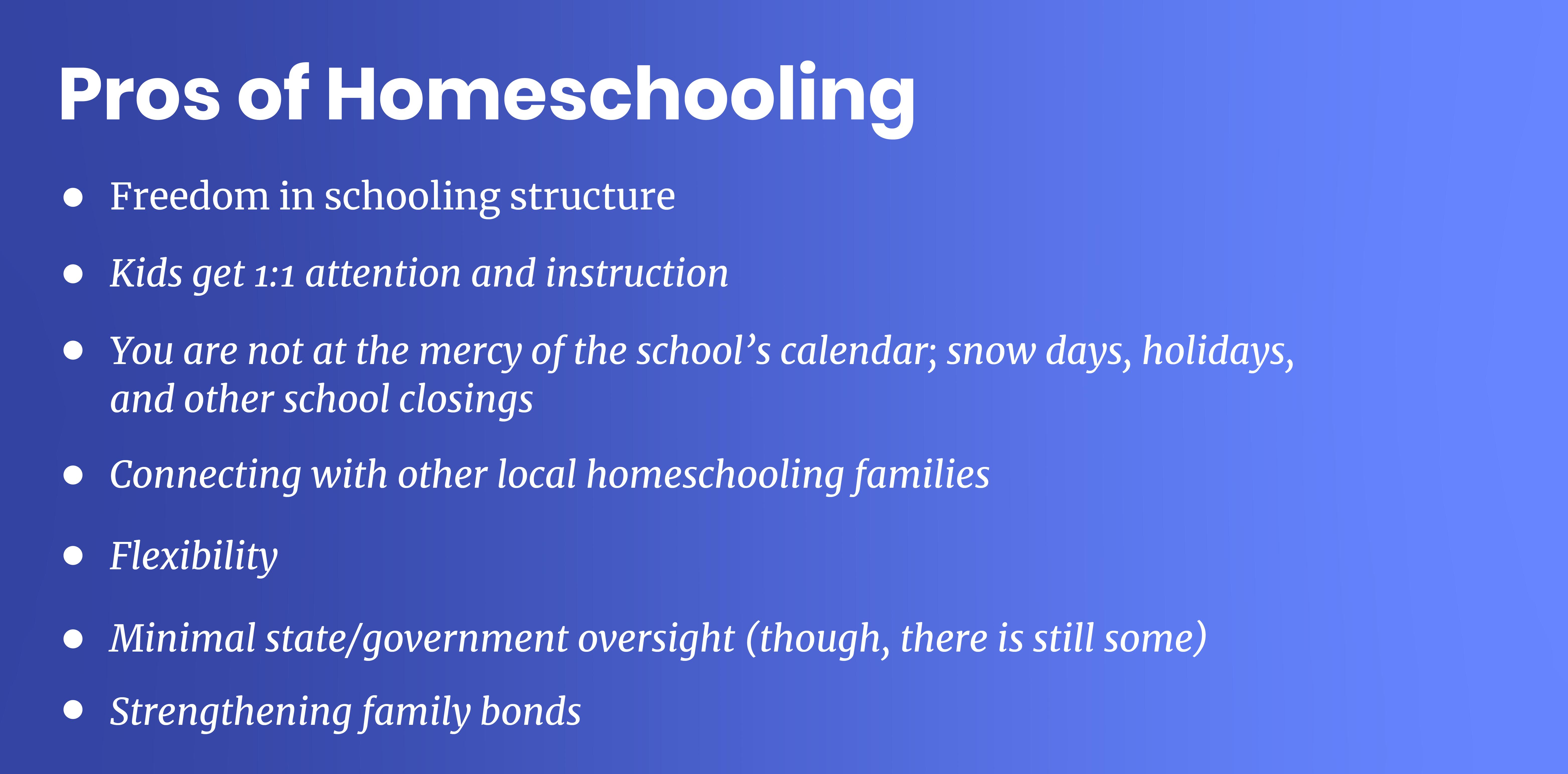homeschooling pros