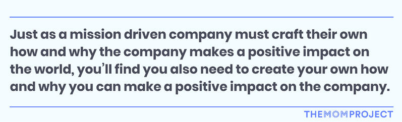 How can you make a positive impact on a company?