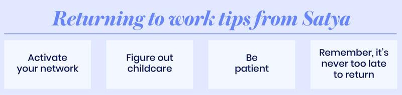 Return to work tips